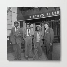Thelonious Monk, Howard McGhee, Roy Eldridge, and Teddy Hill, Minton's Playhouse, 1947 photography - photograph Metal Print