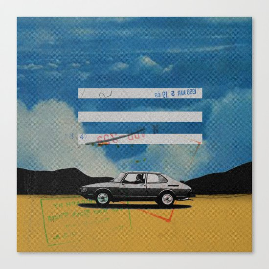 W. Rong   Collage Canvas Print