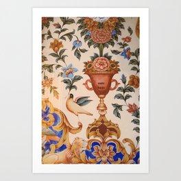 Interiors of Golden Temple Art Print