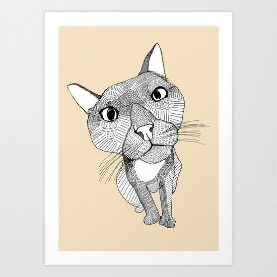 BigHead Cat Art Print