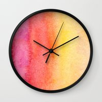 gradient Wall Clocks featuring Gradient by Diego Tirigall