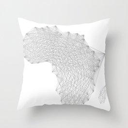 Vector Africa Throw Pillow