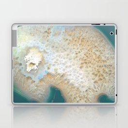 agate, quartz, crystal stone beige gold turquoise Laptop & iPad Skin