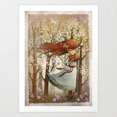 Miss Teaspoon Art Print
