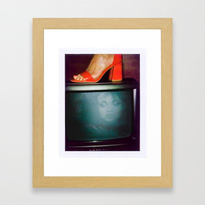 Women on TV Framed Art Print