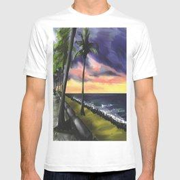 sunset at Boa Viagem Beach T-shirt