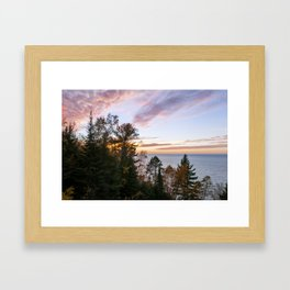 Superior Fall Colors at Sunset Framed Art Print
