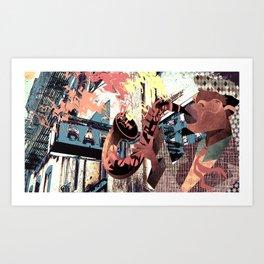 Sax Power Art Print
