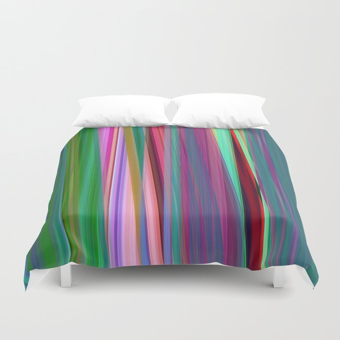fall stripes Duvet Cover