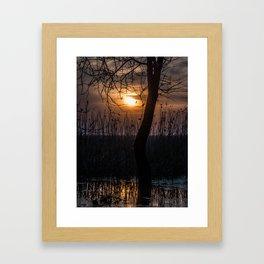 Sunset with mood Framed Art Print