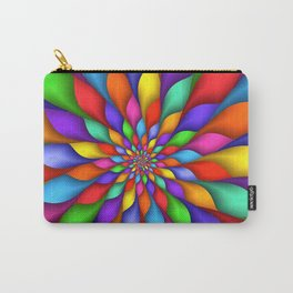 Rainbow Petals Fractal Carry-All Pouch