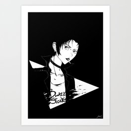 Black Stones Art Print