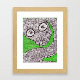Spiral Snake Framed Art Print