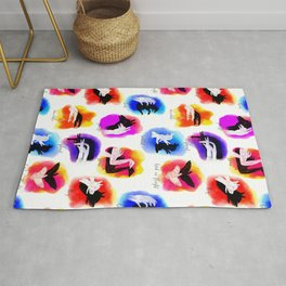 Watercolor Shadow Puppets Rug