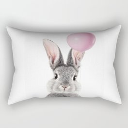 Bunny With Balloon Rectangular Pillow