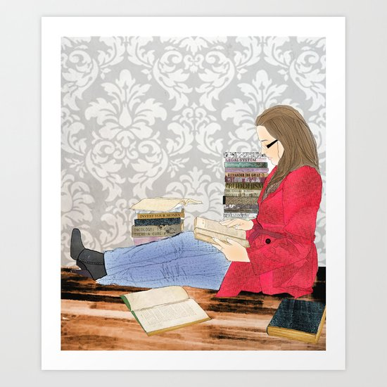 A studious world... Art Print