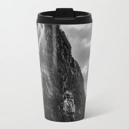 Waterfall Sunset at Otter Crest Beach, Oregon Travel Mug