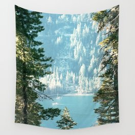 Lake Tahoe Through the Trees Wall Tapestry