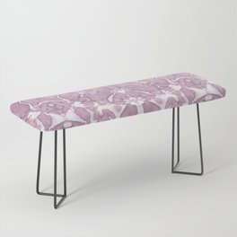 Shibori Rose Crepe De Chine Bench