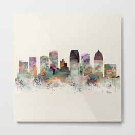 tampa florida skyline Metal Print