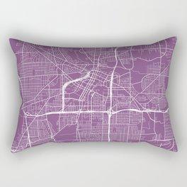 Akron Map, USA - Purple Rectangular Pillow