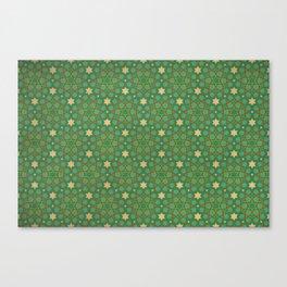 Emerald Weave Canvas Print