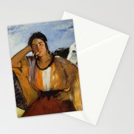 Gypsy with a Cigarette, Edouard Manet Stationery Cards