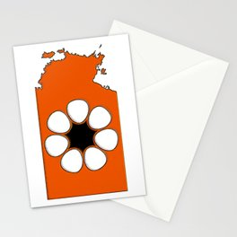 Northern Territory Australia Map with NT Flag Stationery Cards