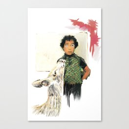 A BOY IN THE WILD Canvas Print