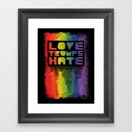 Gay Pride design- Vertical Framed Art Print