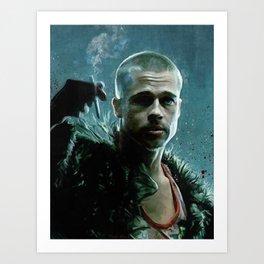 Portrait Of Tyler - Project Mayhem Mission Accomplished Art Print