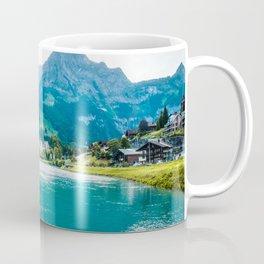 Blue Mountains and Lake II   Europe Switzerland Nature Landscape Photography Coffee Mug