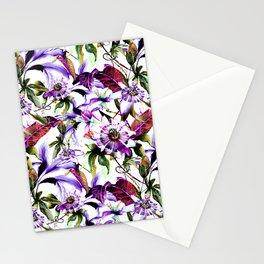 Violet botanical garden Stationery Cards