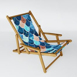 REALLY MERMAID BLUE & GOLD Sling Chair