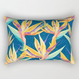 Strelitzia Pattern Rectangular Pillow
