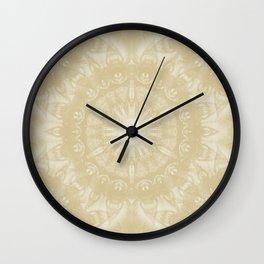 Peaceful kaleidoscope in beige Wall Clock