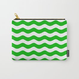 WAVES DESIGN (GREEN-WHITE) Carry-All Pouch