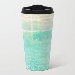 beach ocean wave. Surge. Hermosa Beach photograph Travel Mug