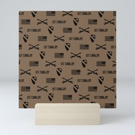 1st Cavalry Division Pattern (Brown) Mini Art Print