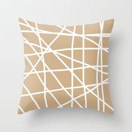 Doodle (White & Tan) Throw Pillow