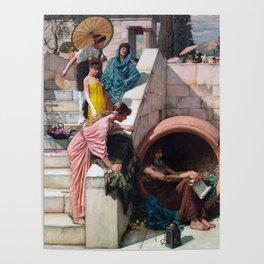 audrey hebpurn + john william waterhouse Poster
