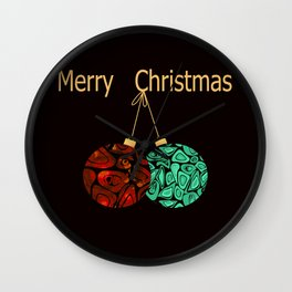 Christmas gift. Wall Clock