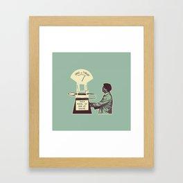 Thrust Framed Art Print