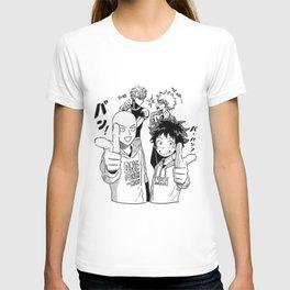One Punch Man Vs Boku no Hero Academia T-shirt