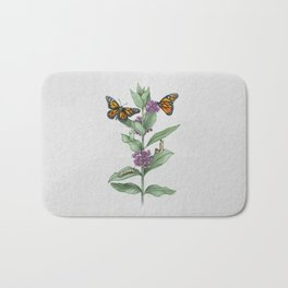 Monarch Butterfly Life Cycle Bath Mat
