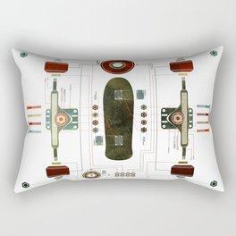The Anatomy of a Skateboard Rectangular Pillow