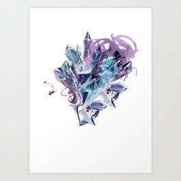 Liquid Crystal Art Print