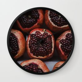 Pomegranates in Israeli Market Wall Clock