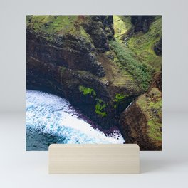 Coastal Cliffs Hawaiian Tropical Beach Mini Art Print