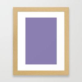 Color I - Charmed Violet Framed Art Print